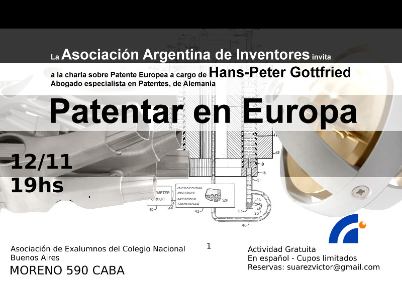 Charla Patentar en Europa